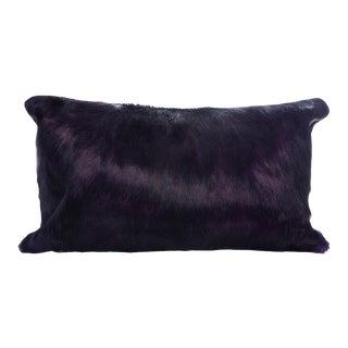 Springbok Pillow in Eggplant 18x10 For Sale