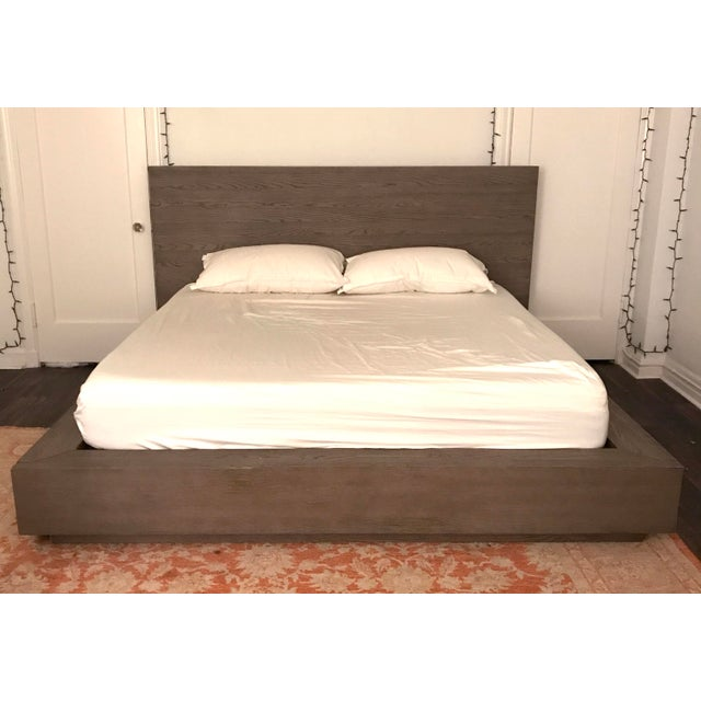 Solid king sized bed frame with a 50-inch American white oak headboard. Designed by the Van Thiels, a family-owned company...
