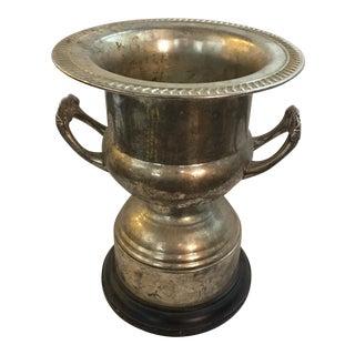 1960s Large Vintage Silverplate & Bakelite Base Champagne Bucket For Sale