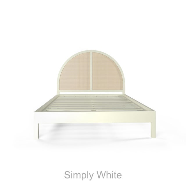 Contemporary Eva Bed - Queen - Simply White For Sale - Image 3 of 5