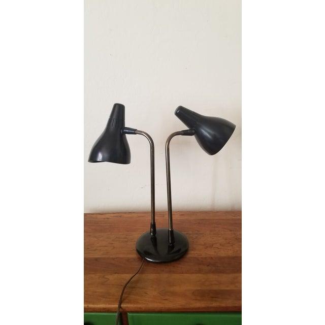 Mid 20th Century Gerald Thurston 1950's Lightolier Dual Head Desk Lamp For Sale - Image 11 of 11