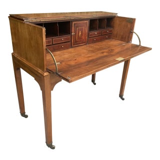 Late 18th Century Federal Inlayed Folding Secretary Desk For Sale