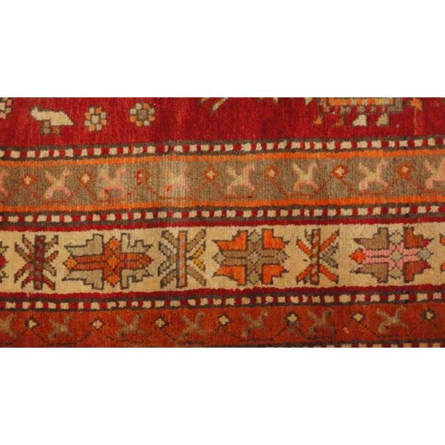 "Antique Persian Bakhshayesh Rug - 9'8"" x 4'1"" For Sale - Image 4 of 4"