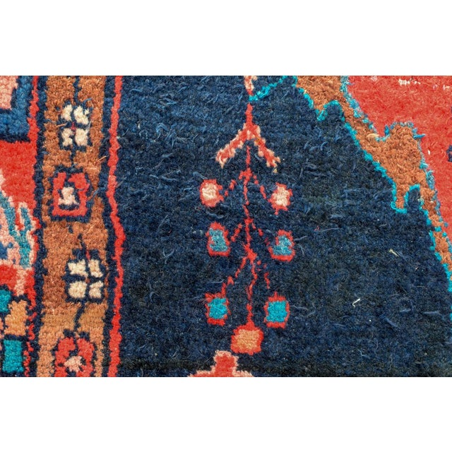 Vintage Mid-Century Hand-Knotted Persian Rug - 4′8″ × 9′11″ For Sale - Image 9 of 13
