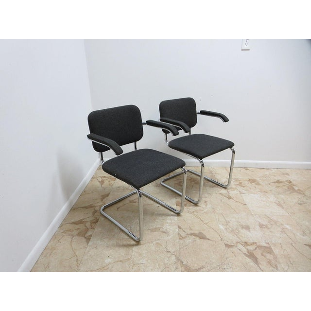 Knoll Arm Chrome Cantilever Arm Chairs - A Pair For Sale In Philadelphia - Image 6 of 9