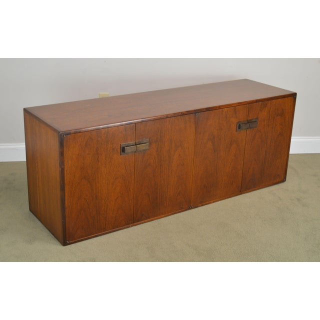 High Quality American Made Low 4 Door Cabinet with Dovetailed Drawers
