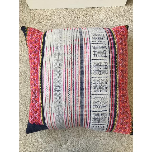 Cotton Amber Interiors Vintage Batik Pillow with Insert For Sale - Image 7 of 7