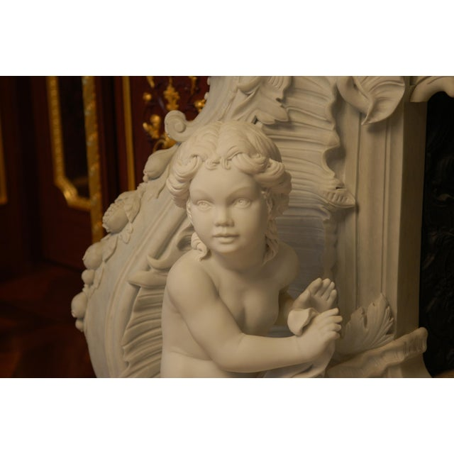 Rococo French Baroque Style Modern Mantel For Sale - Image 3 of 10