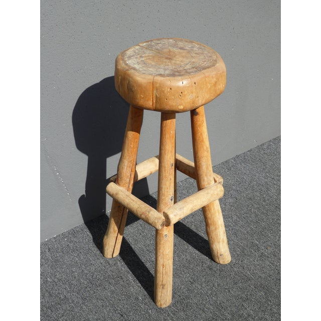 Kitchen Bar Stools For Sale In Ireland: Farmhouse Wooden Bar Stool