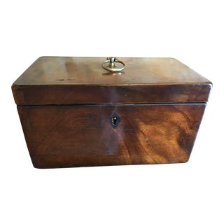 1800 English Regency Flamed Mahogany Double Tea Caddy For Sale