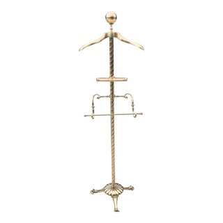Antique Brass Butler Valet & Vanity Stand