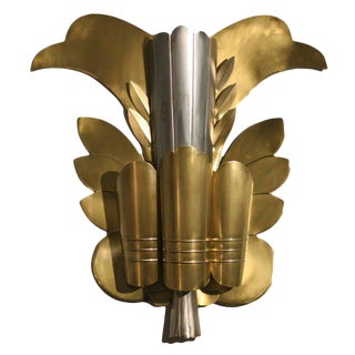 Grand Hollywood Theater Leaf Sconce - 50th Anniversary Sale For Sale