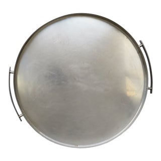 1960s Stelton Stainless Steel Round Tray For Sale