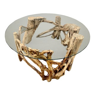 1950s Organic Modern Tree Root Coffee Table For Sale