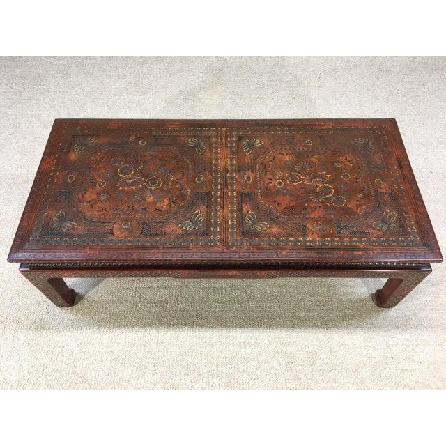Asian Mario Buatta for John Widdicomb Chinoiserie Coffee Table For Sale - Image 3 of 7