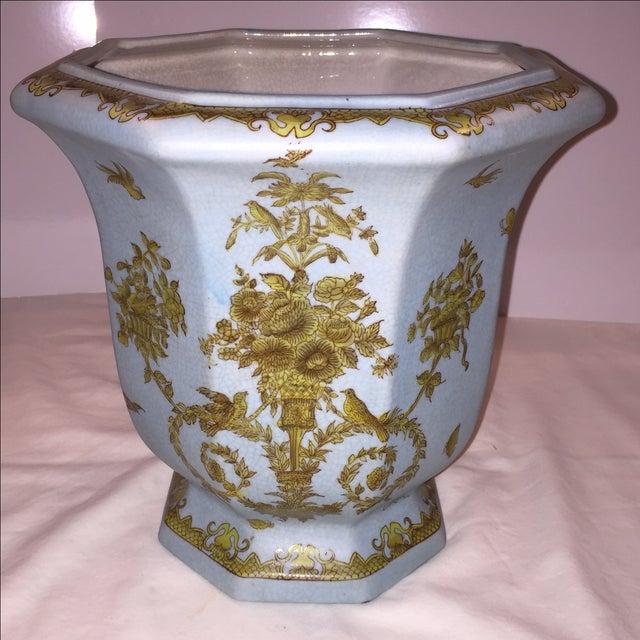 Chinese Octagonal Porcelain Planter - Image 5 of 6