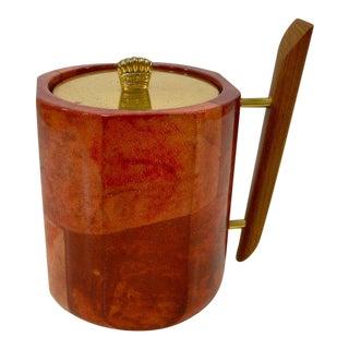 1950s Aldo Tura Goatskin Ice Bucket For Sale