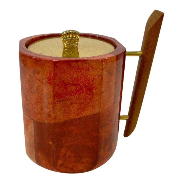 1950s Aldo Tura Goatskin Ice Bucket For Sale