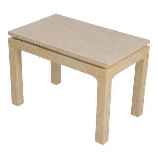 Enrique Garcel Tessellated Bone Side Table Made in Colombia For Sale
