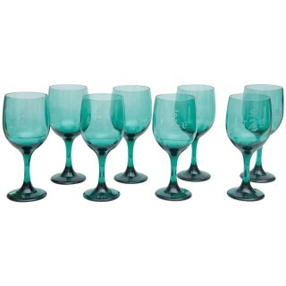 Mid-Century Bristol Wine Glasses - Set of 8 For Sale