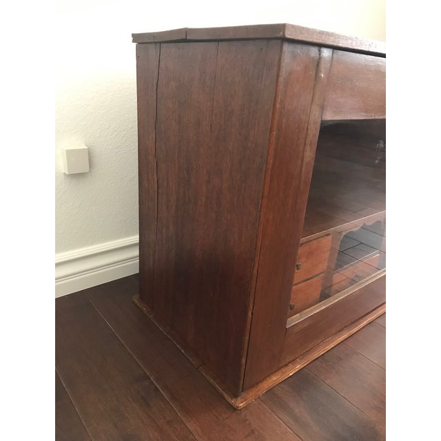 19th Century Traditional Cigar Humidor/Secretary Cabinet For Sale - Image 4 of 8