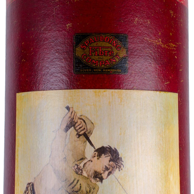 Antique vulcanized fibre tube made by Spaulding Fibre Company for shipping and store display of golf clubs. A.B. Frost...