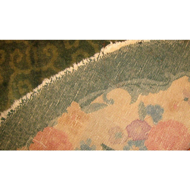 1920s Hand Made Antique Art Deco Chinese Rug - 5′ × 7′10″ - Image 5 of 7