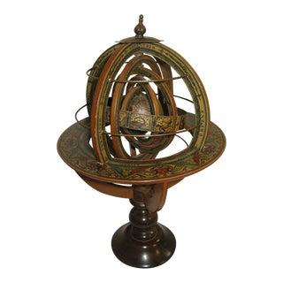 Vintage Italian Armillary Wood Sphere