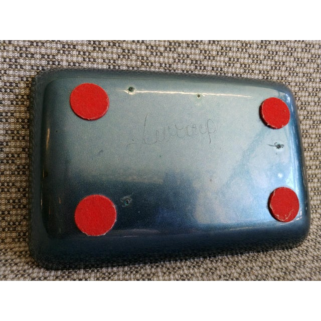 Mid-Century Modern Enamel on Copper Tray Signed For Sale In Palm Springs - Image 6 of 9