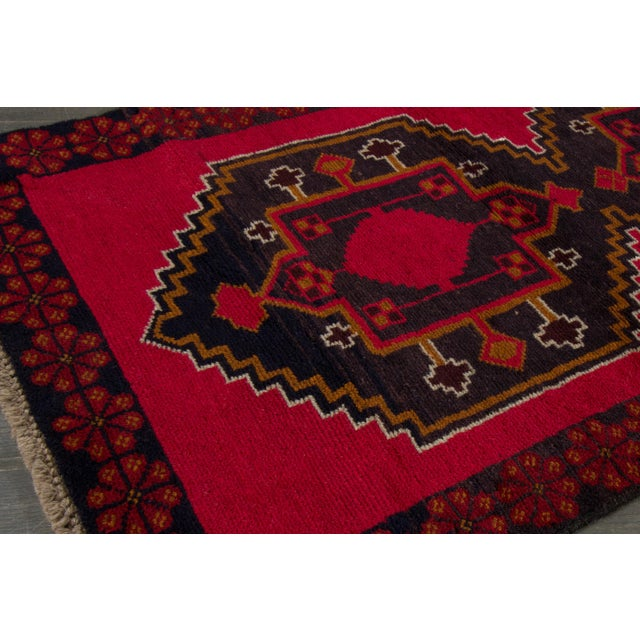 """Islamic Vintage Hand-Knotted Balouch Wool Rug, 2'8"""" X 4'7"""" For Sale - Image 3 of 4"""