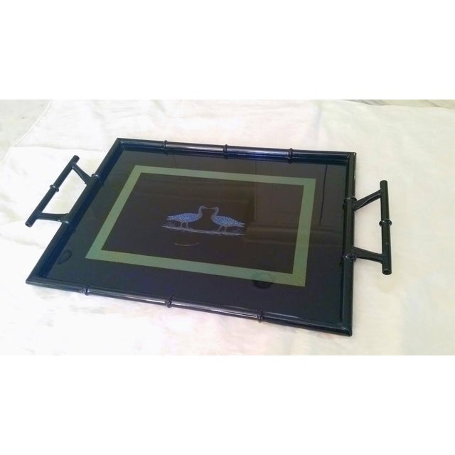 High Gloss Vintage Lacquer Service Tray - Image 2 of 4