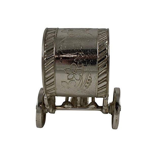 Victorian Boy & Cart Silver Figural Napkin Ring/Holder For Sale - Image 4 of 11