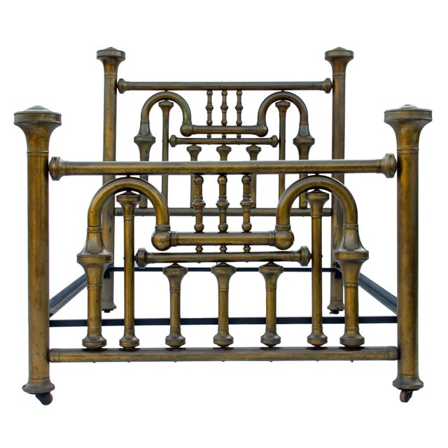 19th Century Brass Tuba Bed Frame For Sale - Image 11 of 11