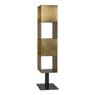Modern Noir Tara Brass Etagere For Sale
