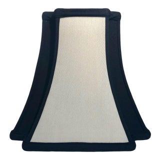 Heath & Co Custom Black and Cream Lamp Shade For Sale