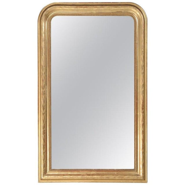 Antique French Louis Philippe Mirror Original Gilding For Sale - Image 12 of 12