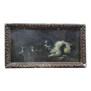 18th Century Italian Dog Painting For Sale