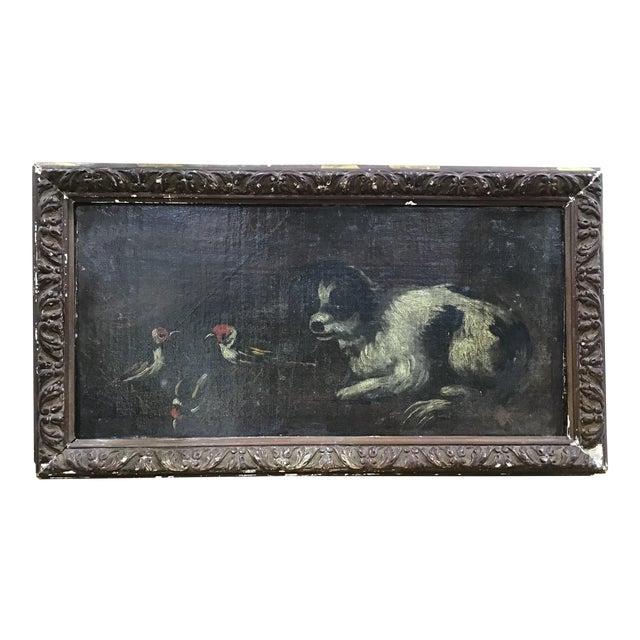 18th Century Italian Dog Painting For Sale