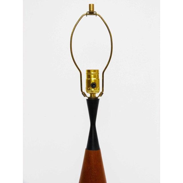 Danish Sculptural Teak Table Lamp - Image 4 of 7