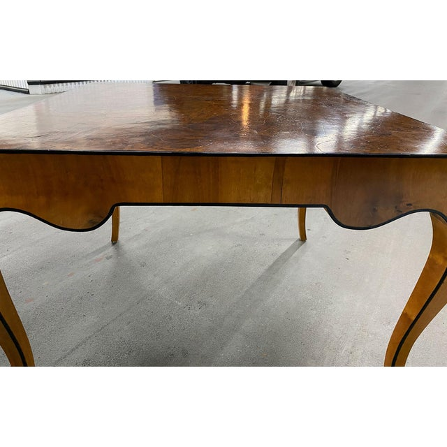 Brown 1970s Stunning Oyster Olivewood Burl Table, Made in Italy For Sale - Image 8 of 13