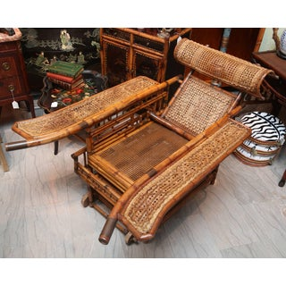 "Rare 19th Century ""Indochine"" Bamboo Plantation Chair Preview"