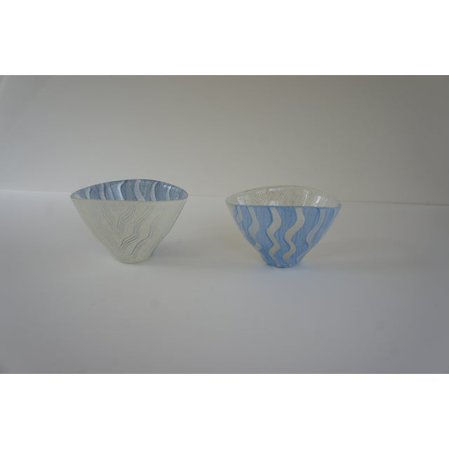 Kosta Boda Monica Backstrom Hand-Painted Bowls - a Pair For Sale - Image 11 of 11