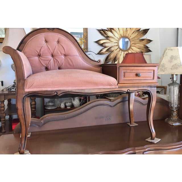 Beautiful Vintage Telephone chair . Queen Anne / Victorian style. This would be great for a little girls room or foyer of...