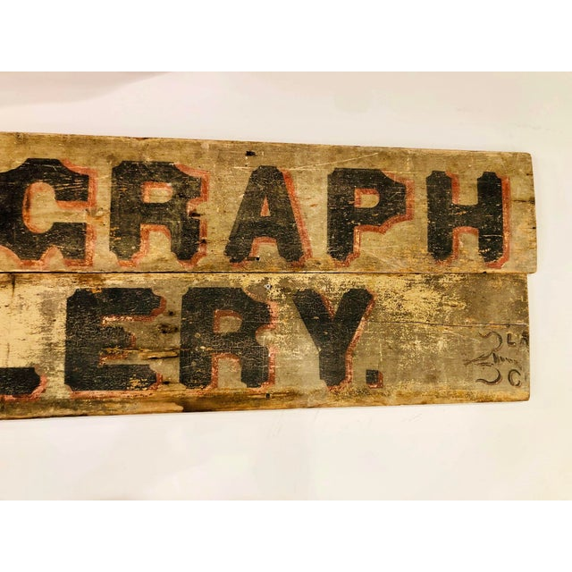 Late 18th Century Late 1800s Photography Trade Sign For Sale - Image 5 of 10