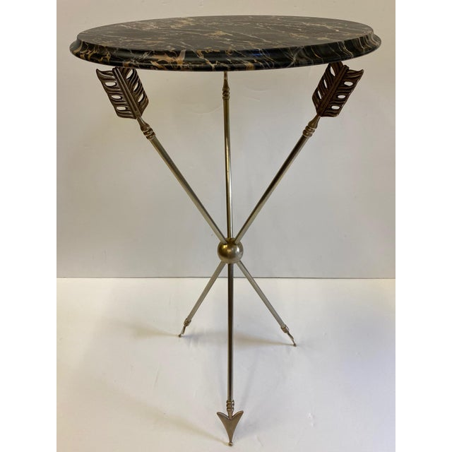 Maison Jansen Style Arrow Motife Side Table For Sale - Image 10 of 13