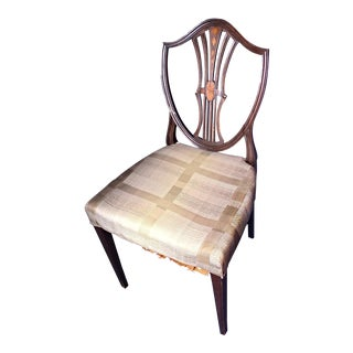 19th Century Antique Inlaid Hepplewhite Dining Side Chair For Sale