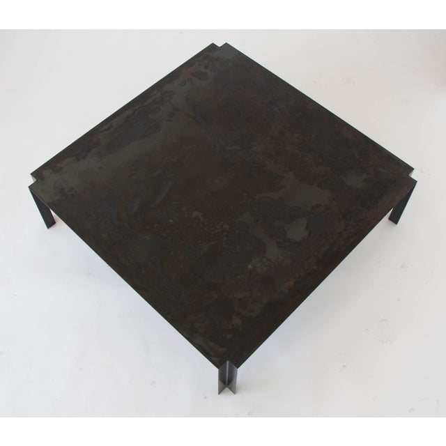California-Designed Modernist Square Coffee Table - Image 6 of 8