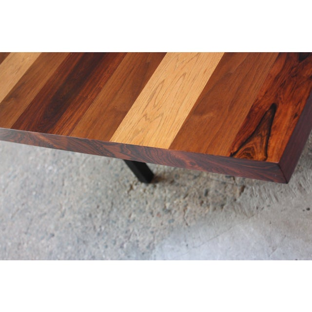 Directional Mixed-Wood Dining Table by Milo Baughman - Image 7 of 13