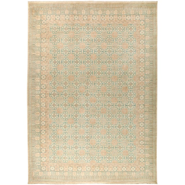 """New Khotan Hand-Knotted Rug - 9' 10"""" X 13' 9"""" - Image 1 of 3"""