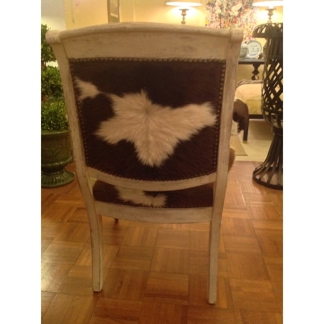 Antique Cowhide Chair with Nailhead Accents - Image 5 of 6